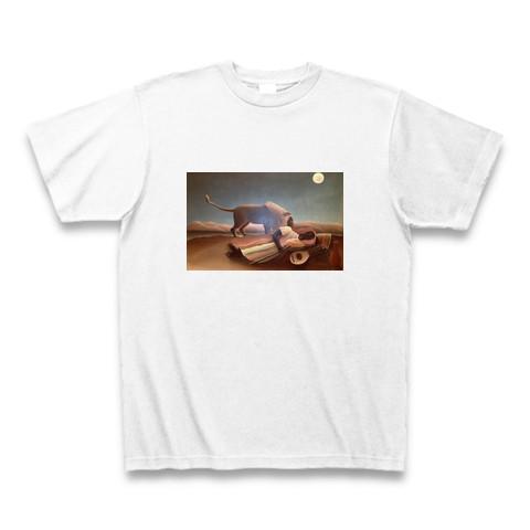 送料無料絵画Tシャツホワイト(男女兼用サイズ)