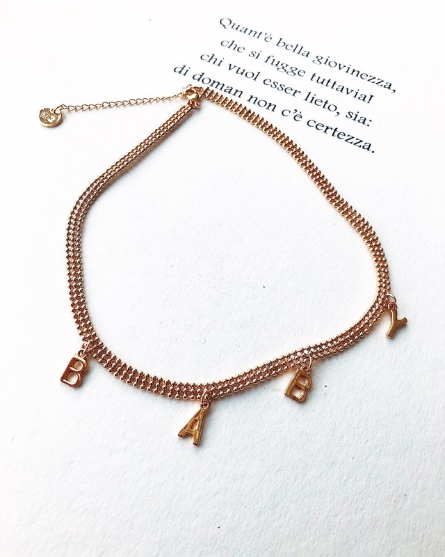 BABY charm choker necklace (ベイビー チャーム チョーカーネックレス)