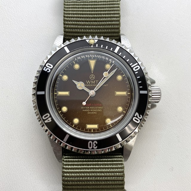 W.MT WATCH  ROYAL MARINE FROGMAN Glossy Tropical  (AGED HANDS) WMT672-05
