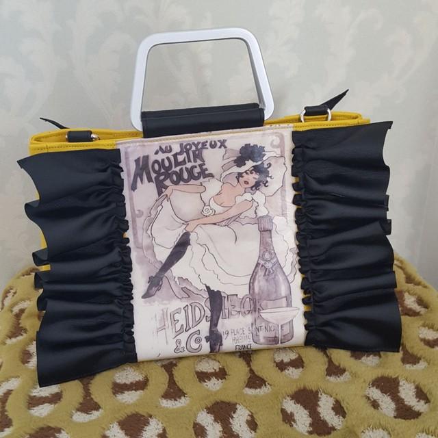 壁紙アートフリルバッグ