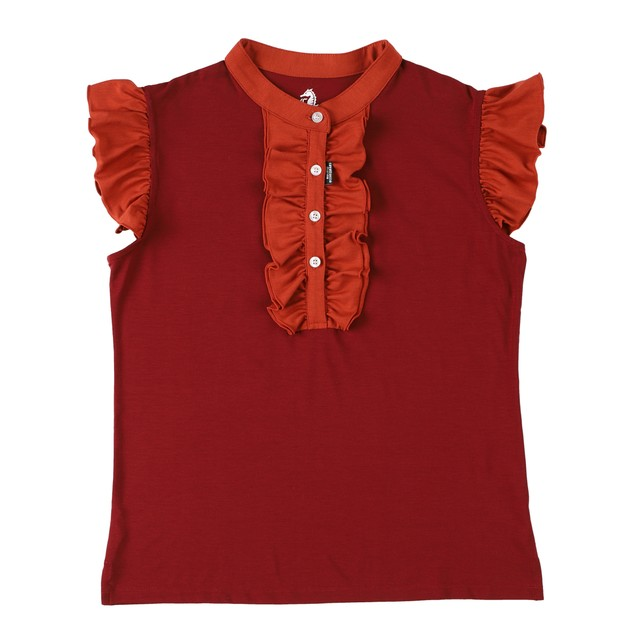 Ladies Sleeveless polo shirt / Cherry