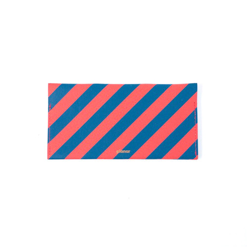 Wallet L -Red and Blue Stripes-