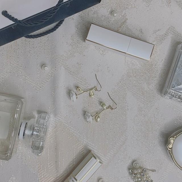 angel's white rose earring
