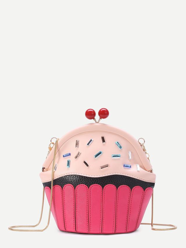 ケーキ型チェーンバッグ