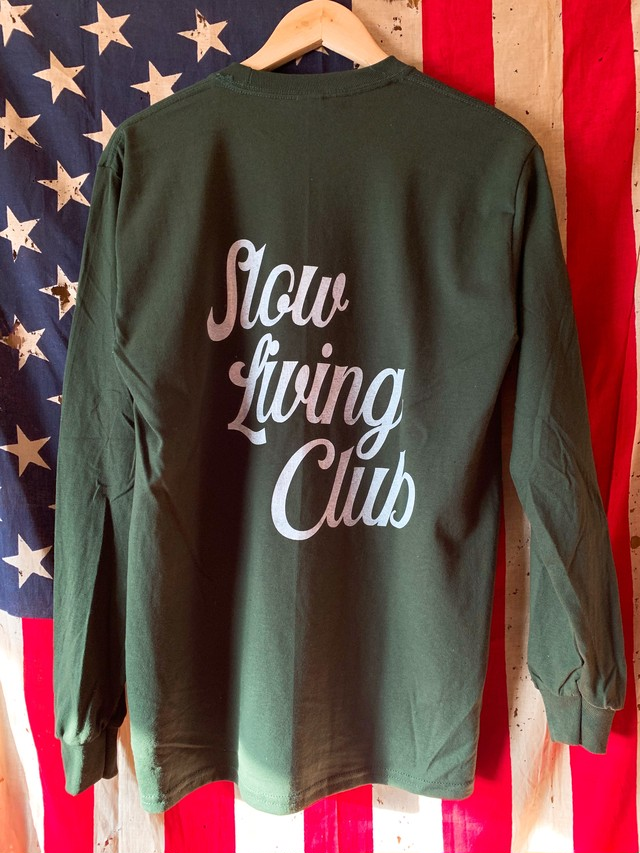 Long Sleeve Shirt 【 Color : Forest green × White 】