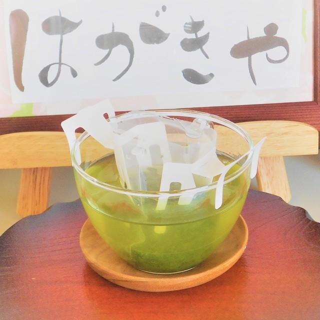 緑茶おちゃはがき、10枚セット緑茶ドリップティー入り、+ご自分用の深蒸し茶ティードリップ1袋セット