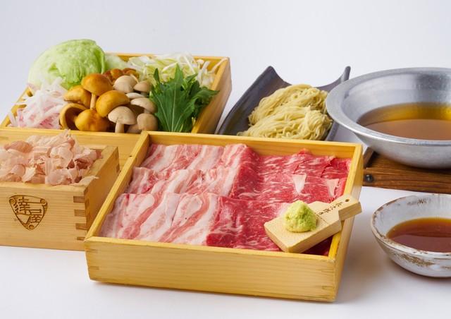 「阿蘇牧草和牛あか牛」「十勝放牧豚」食べ比べ 究極の出汁しゃぶ 2人前セット