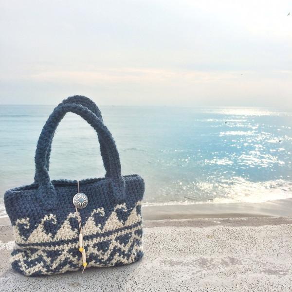 波柄のバッグ WAVE BAG NAVY 【ネイビー】| Always