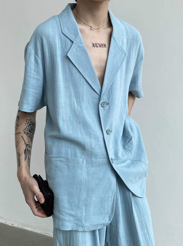 リネンシャツジャケット&ロングパンツ CE00289