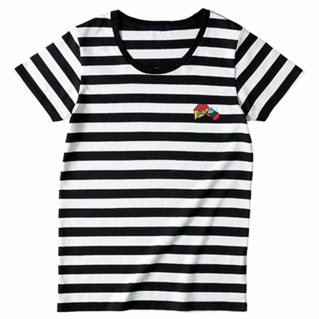 TRUSS 4.3oz ボーダーTシャツ(レディース)  ホワイト×ブラック
