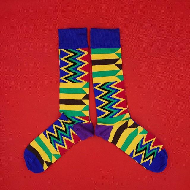 ギザギザ インポート ソックス 【靴下 くつした socks】