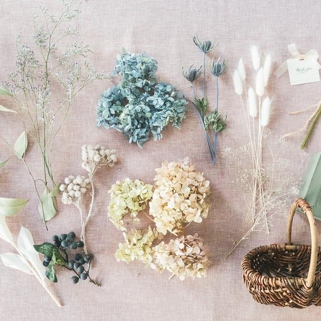 DIYキット フラワーバスケット ノスタルジア/ドライフラワー Flower Basket_Nostalgia