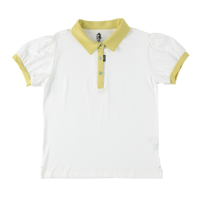 Ladies Puff sleeve  polo shirt  / Vanilla&Lemon