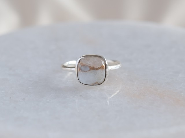 copper calcite ring コッパーカルサイト シルバーリング silver925