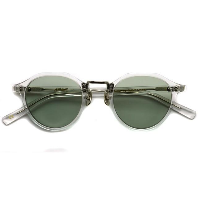 A.D.S.R./ SATCHMO03(e) サッチモ / Clear / Silver - Light Green クリア/シルバー - ライトグリーンレンズ サングラス