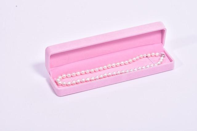Elegant pearl base 8mm 45cm ホワイト色(※商品動画あり)