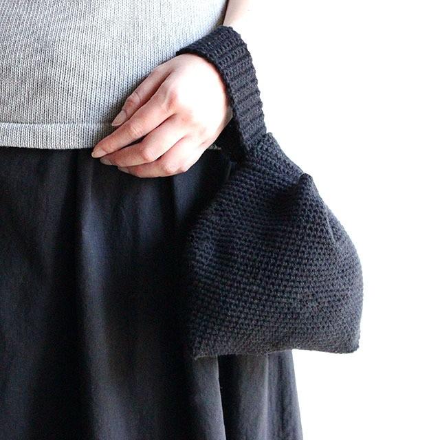 【編み物キット】No.13の糸を使った綿糸のこま編みバック
