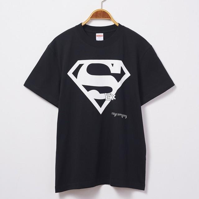 Tシャツ 「SEXマン」 黒T 文字T おもしろT 半袖 T-shirt クレイジー sex CrazyCompany