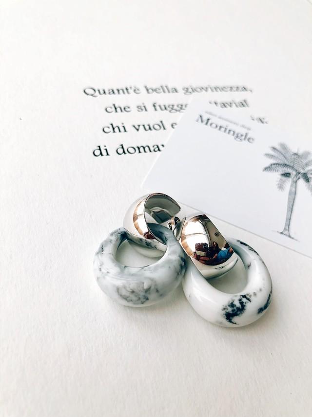 Stone marble 2way pierce (ストーンマーブル 2way ピアス)