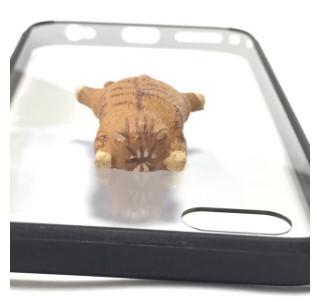 送料無料  iphoneケース ( iphone6 / iphone6s しがみつき猫 )