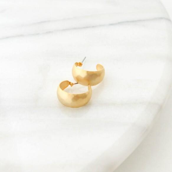 Tsuchime Metal Hoop Pierces(gold)