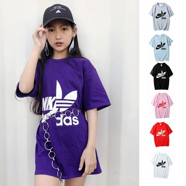 【即納】大人サイズ ★ 大人気  Tシャツ ナイダス 親子 おそろい 大人サイズ有 男女兼用 2019s/s 韓国 レディース メンズ オルチャン ファッション