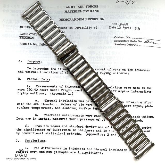 【完全復刻】The Forstner Klip - Stainless Steel Ladder-Style Watch Bracelet ストレート管 20mm  腕時計ベルト