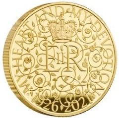 2021年 英国 イギリス エリザベス女王 生誕95周年記念 5oz 5オンス 10ポンド プルーフ 金貨 The 95th Birthday of Her Majesty the Queen 2021 Gold Proof Five-Ounce Coin