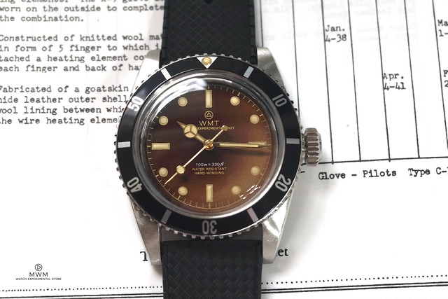 """WMT WATCH SEA DIVER """"DIVER Ⅱ"""" Tropical Mirror  Dial with TROPIC BAND"""