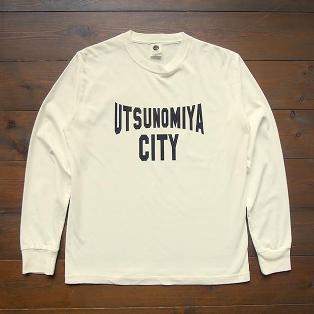 【在庫限り!】ロングスリーブ UTSUNOMIYA CITY ヴィンテージオフホワイト