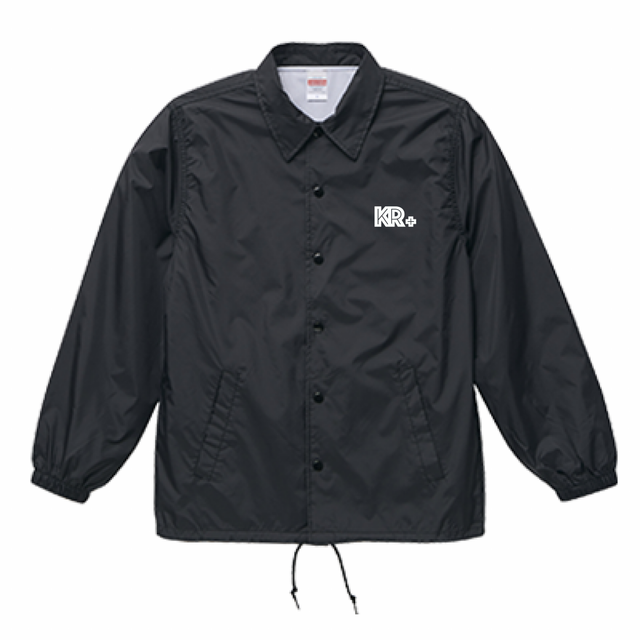 Nylon Coach jacket Black
