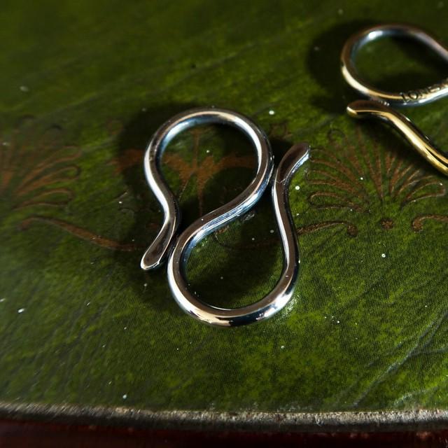 SNAKE SCARF RING -silver925- ヘビのスカーフリング(スキニースカーフ用)シルバー925製