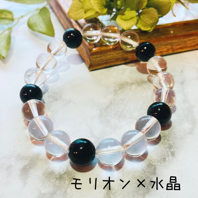 【T569】モリオン(黒水晶)/水晶/10㎜/ブレスレット/Morion/bracelet