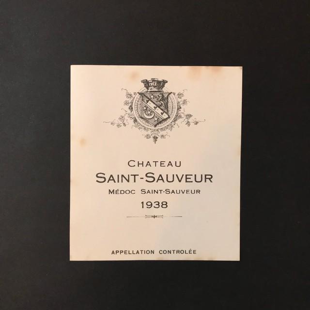"""Vintage Label """"LA TOUR DU ROC"""" フランスの古いワインのラベル"""