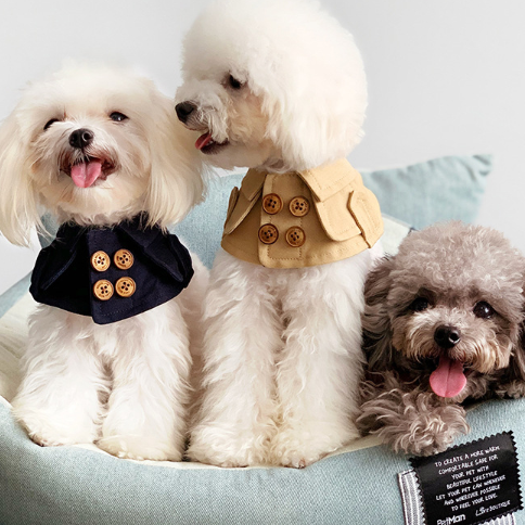 【即納】高級感溢れるシックな犬用ケープ / 小型犬・中型犬 / シンプル おしゃれ ドッグウェア 犬 服 首輪 よだれかけ スタイ