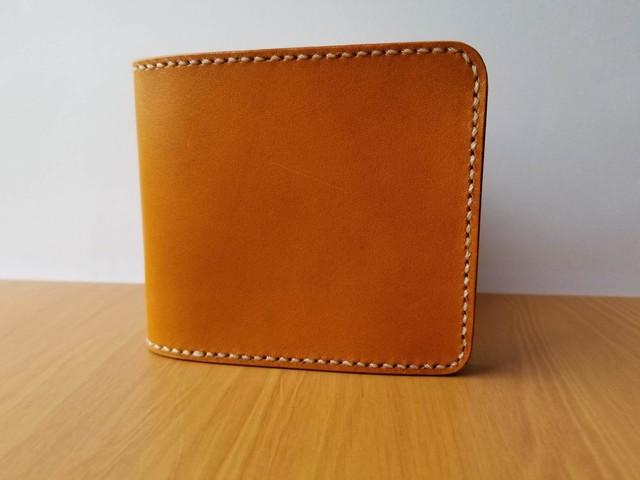 二つ折り財布(ショートウォレット)キャメル
