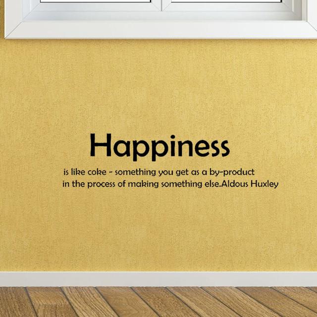 オルダス・ハクスリーのウォールステッカー 幸福はコークスのようなもの