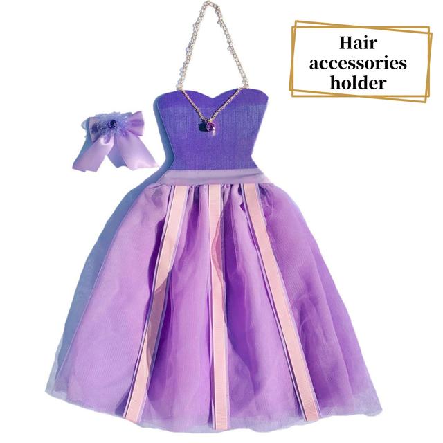 ヘアアクセサリー収納ホルダープリンセスドレス(purple)