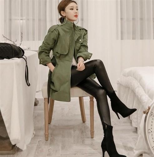 いい女風♡ベルト付きミリタリーコート