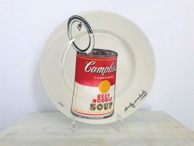 """2000s Andy Warhol """"Cambell's Soup"""" ceramics plate"""