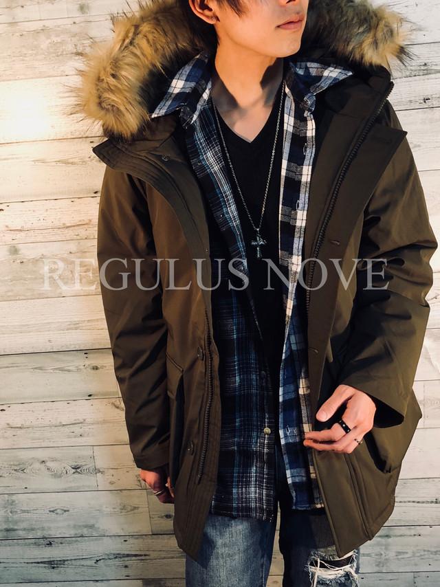 REGULUS NOVE ストレッチ中綿N-3Bジャケット メンズ コート ジャケット 中綿 ダウンタッチ カジュアル ミリタリー 冬物 暖かい クリスマス ギフト 大人 お洒落 トレンド
