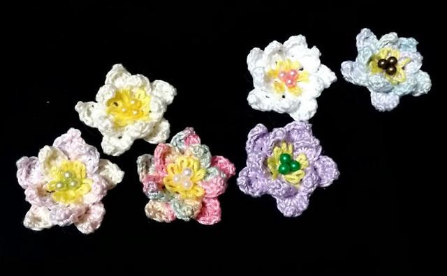 3D編みモチーフ・蓮の花(セレクトシリーズ)