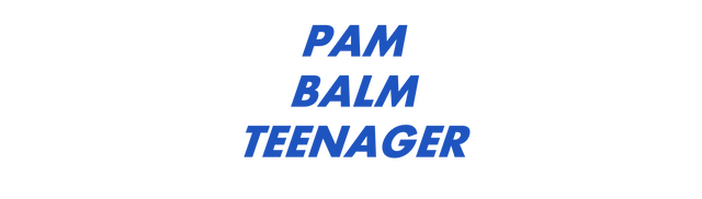 Pam Balm Teenager