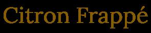 Citron Frappé シトロンフラッペ * フランス スペイン オーストラリア インポートアクセサリー *