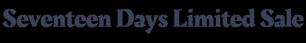 Seventeen Days Limited Sale