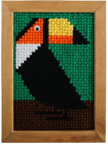 """お子さんの夏休みの自由研究に、ブラジルの毛糸刺繍""""タペサリア""""はいかがでしょう"""