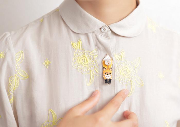 セーターから見えるいつものシャツをちょっと可愛く♡「KEORA KEORA」のボタンアクセサリー