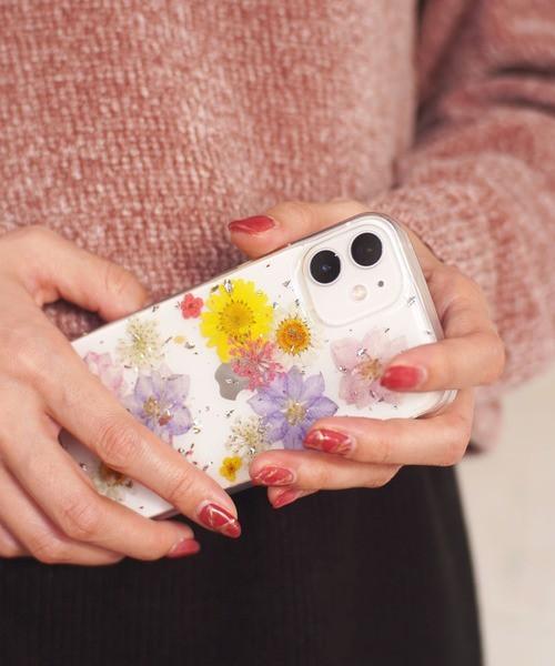 可愛いお花がたくさん♪ドライフラワー クリア iPhoneケース 2