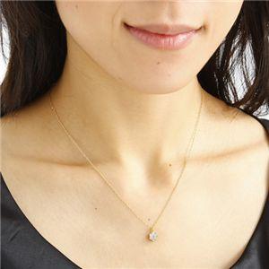 ダイヤネックレス 18金YG インビジブルセッティングダイヤ ネックレス