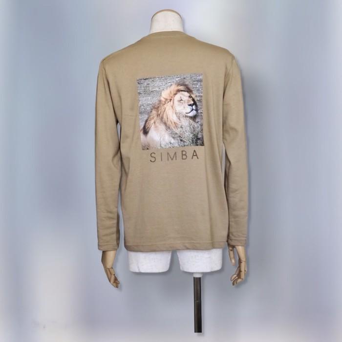 United Athle 5.6oz 長袖Tシャツ サンドカーキ ライオン